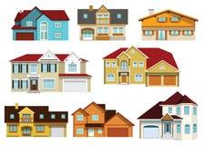 Miasto domy Obrazy Royalty Free