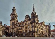 Miasto Drezdeński saxony Niemcy Centrum stary miasto fotografia royalty free