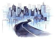 miasto droga ilustracji