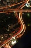 Miasto droga przy nocą Fotografia Stock