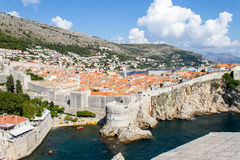 miasto Dubrovnik Croatia stary Fotografia Royalty Free
