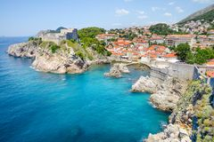 miasto Dubrovnik stary zdjęcie stock