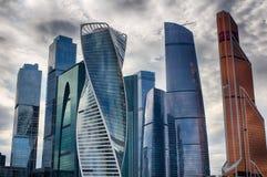 miasto dzień Kreml Moscow zewnętrznego Centrum biznes w Rosja Conduction transakcje finansowe moscow Rosji Obraz Stock