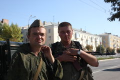 Miasto dzień w Luhansk Zdjęcie Stock