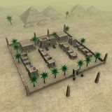 miasto egipcjanin ilustracji