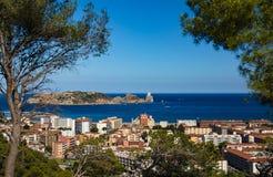 Miasto Estartit na Costa Brava obraz stock