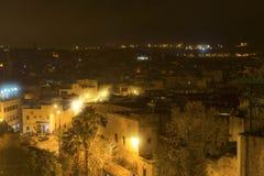 Miasto Fes w Maroko, Afryka, przy nocą Obraz Royalty Free