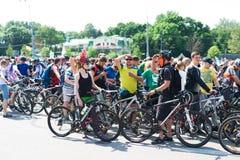 Miasto festiwalu roweru przejażdżka Zdjęcia Royalty Free