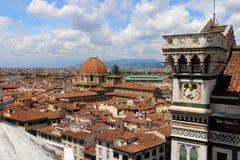 Miasto Florencja nieba widok w lecie fotografia stock