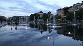 Miasto fontanna Ładny Francja zbiory wideo