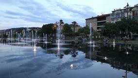 Miasto fontanna Ładny Francja zbiory
