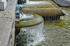 Miasto fontanny kaskada, lokalny punkt zwrotny, Kharkov, Ukraina obraz stock