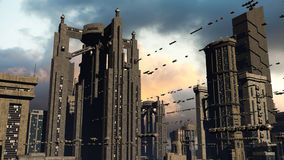 miasto futurystyczny Zdjęcie Stock