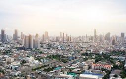 Miasto głąbik Bangkok w ranku fotografia stock