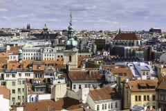 Miasto głąbik przegapia Praga, CZ Zdjęcia Royalty Free