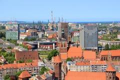 Miasto Gdański, panorama, Polska Zdjęcie Royalty Free