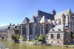 Miasto Ghent miejski krajobrazu Zdjęcie Stock