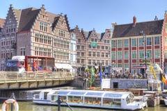 Miasto Ghent miejski krajobrazu Obraz Royalty Free
