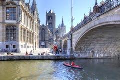 Miasto Ghent miejski krajobrazu Fotografia Royalty Free