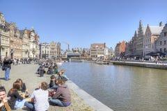 Miasto Ghent miejski krajobrazu Obraz Stock