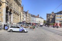 Miasto Ghent miejski krajobrazu Fotografia Stock