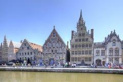 Miasto Ghent miejski krajobrazu Zdjęcia Stock