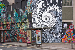 miasto graffiti Zdjęcia Stock