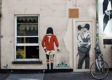 Miasto graffiti Zdjęcia Royalty Free