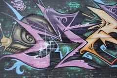 Miastowi graffiti Fotografia Stock