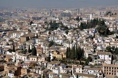 Widok z lotu ptaka Granada od Ahambra pałac Zdjęcie Royalty Free