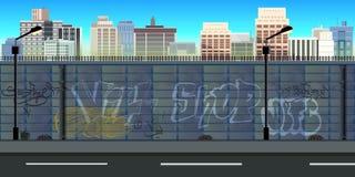 Miasto gry tło Obrazy Royalty Free