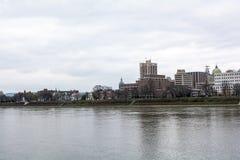 Miasto Harisburg w Pennsylwania podczas chmurnego dnia fotografia royalty free