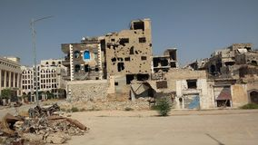 Miasto homs po wojny obraz royalty free