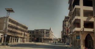 Miasto homs po wojny zdjęcie royalty free