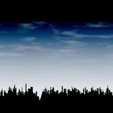 Miasto i chmury Zdjęcia Stock