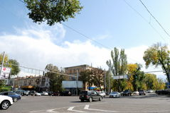 Miasto i drzewa Zdjęcie Royalty Free
