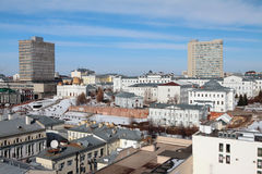 Miasto i KFU magistrali skrzynki kazan Russia Obraz Stock