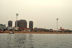 Miasto i morze zdjęcia stock