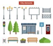 Miasto i plenerowi elementy dla budowy krajobrazy, Fotografia Royalty Free