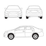 Miasto ilustracja samochodowa kreskowa Ilustracji