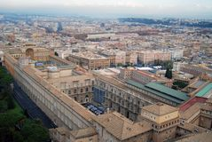miasto Italia Romów Watykanu Obraz Royalty Free