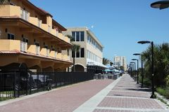 Miasto Jacksonville plaża w Florida Obrazy Royalty Free