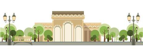 miasto jak park royalty ilustracja
