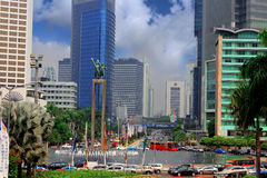 miasto Jakarta obrazy royalty free