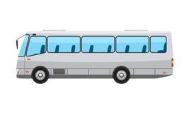 Miasto jawny autobus z mieszkania i stałego koloru stylu projektem Przejrzyści nadokienni szkła również zwrócić corel ilustracji  ilustracja wektor