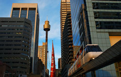 miasto jednoszynowy Sydney Obraz Royalty Free