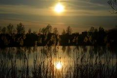 Miasto jezioro Obraz Royalty Free
