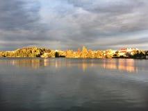 Miasto jezioro Zdjęcie Royalty Free