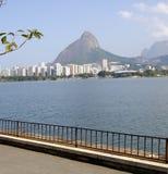 miasto jezioro Rio De Janeiro Obrazy Royalty Free