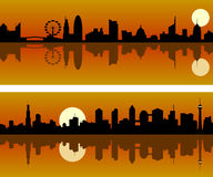 miasto jutrzenkowa linia horyzontu Obrazy Royalty Free